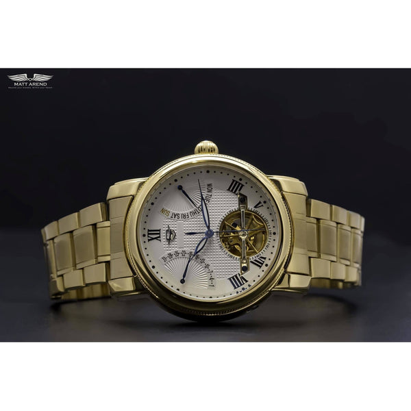 Custom Ma 647 Semaine Retrograde Gold-Wristwatch-Matt Arend Timepieces