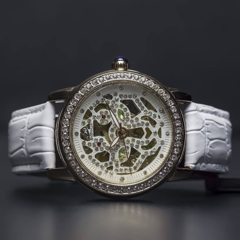 Ma 154 Emerald Skeleton-Wristwatch-Matt Arend Timepieces