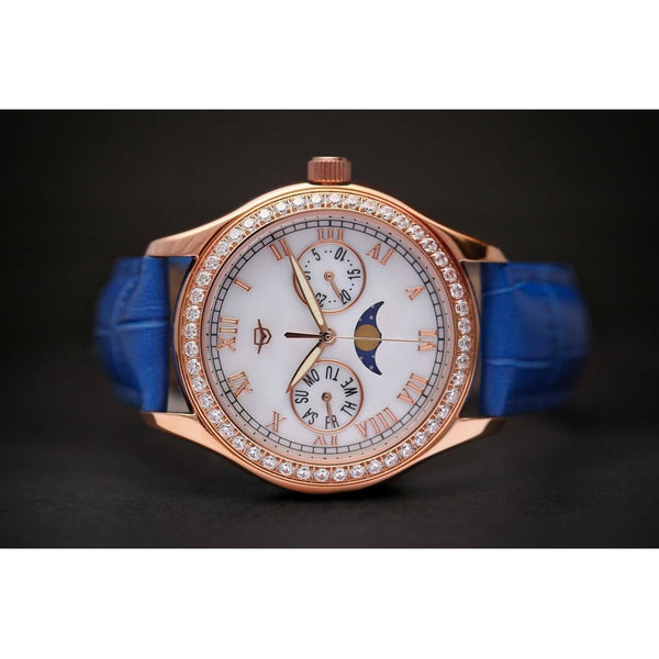 MA 164 Jour Nuit Rosegold Blue Automatic-Wristwatch-Matt Arend Timepieces