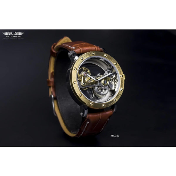 Ma 319 Excalibur Gold / Brown-Wristwatch-Matt Arend Timepieces