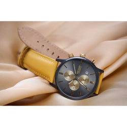 Ma 614 Evolution / Leather Mustard Yellow-Wristwatch-Matt Arend Timepieces