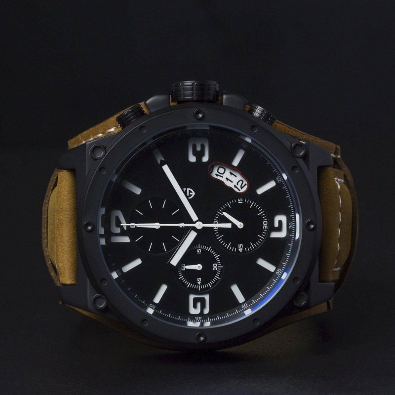 MA 673 Navigator Black Tactical Chronograph-Wristwatch-Matt Arend Timepieces