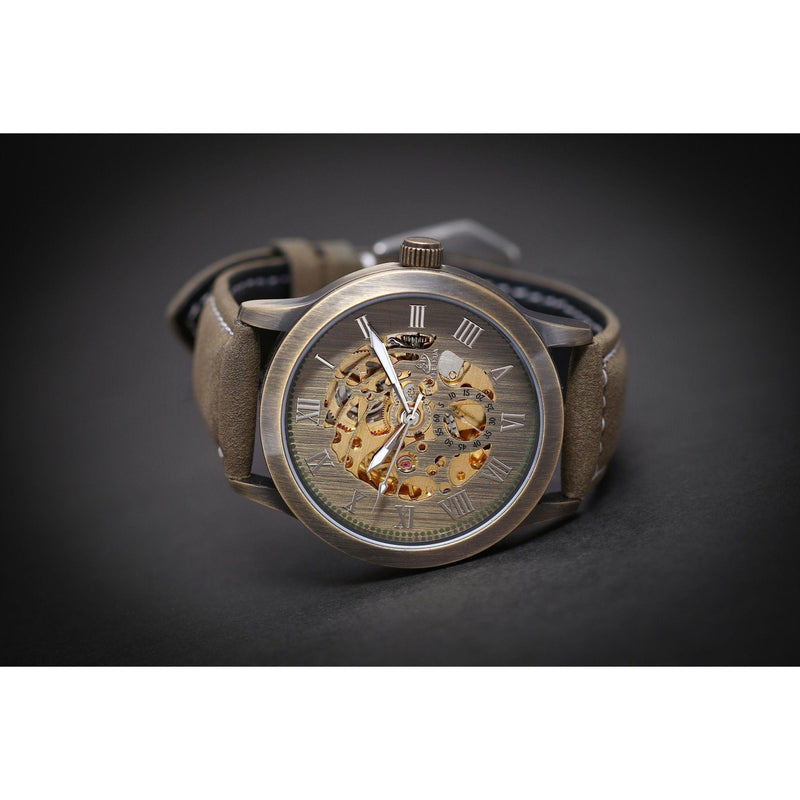 Ma 715 Spherique Skeleton Suede-Wristwatch-Matt Arend Timepieces