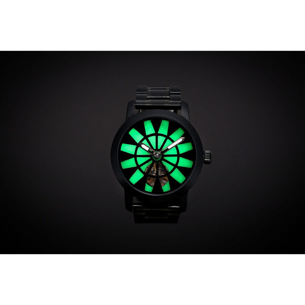 Ma 719 Lume One Satin Black / Green-Wristwatch-Matt Arend Timepieces