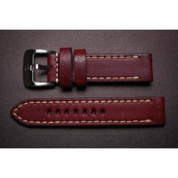 Premium Leather Strap Brown Handstitched-Straps-Matt Arend Timepieces
