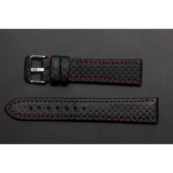 Premium Leather Strap Carbonfibre-Straps-Matt Arend Timepieces