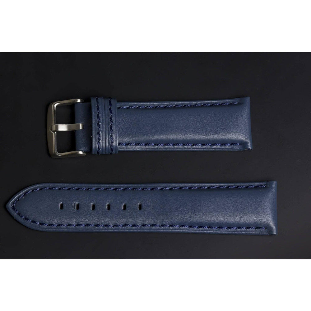 Premium Leather Strap Indigo-Straps-Matt Arend Timepieces