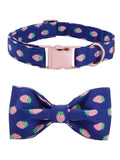 Premium Strawberry Bow Tie Collar & Leash