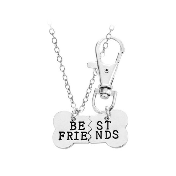 The Parents Best Friends Dog Charm Sterling Silver