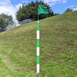 Barber Pole with Flag Green