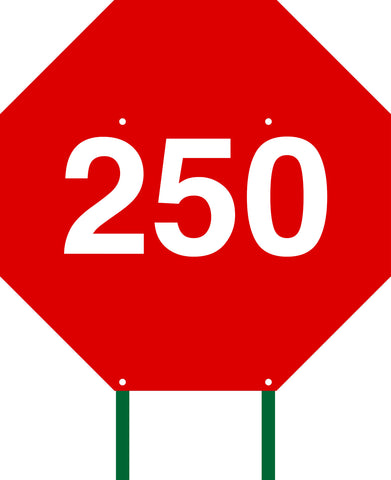 Distance Sign Octagonal Red 250