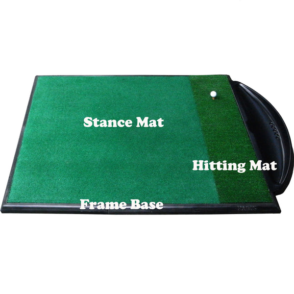 Golf Driving Range Mat Single Handed Combi System