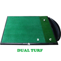 Golf Driving Range Mat Single Handed Combi System Dual Turf