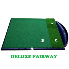 Golf Driving Range Mat Single Handed Combi System Deluxe Fairway