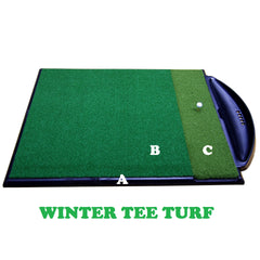 Golf Driving Range Mat Single Handed Combi System Winter Tee Turf