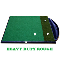 Golf Driving Range Mat Single Handed Combi System Heavy Duty Rough
