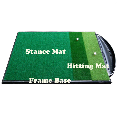 Golf Driving Range Mat Double Handed Combi System
