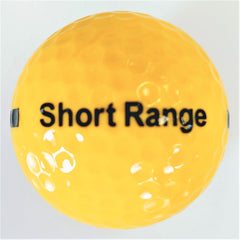 BA170SY One Piece Golf Driving Range Ball Yellow Short Distance Reduced Flight