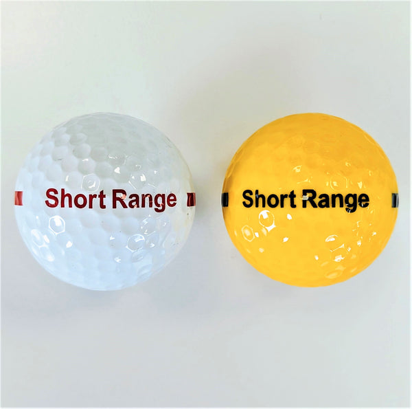 BA170S One Piece Golf Driving Range Ball White or Yellow Short Distance Reduced Flight