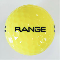 BA290Y Two Piece Driving Range Golf Ball Yellow Full Flight