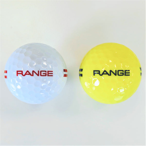 BA290 Two Piece Driving Range Golf Ball White or Yellow Full Flight