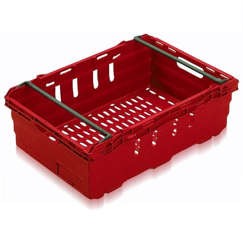 Driving range golf ball stacking crate in red
