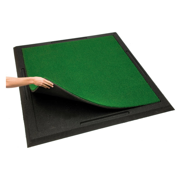 Golf Driving Range Mat Airlastic Frame Recycled Rubber Crumb 170 cm x 170 cm