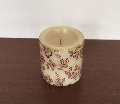 Floral Patterned Candle