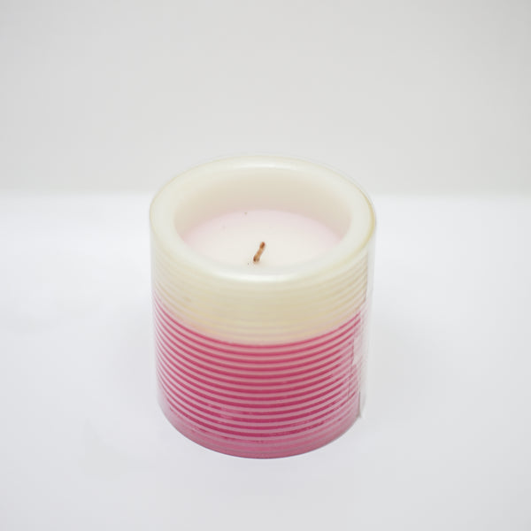 Gold and Pink Candle