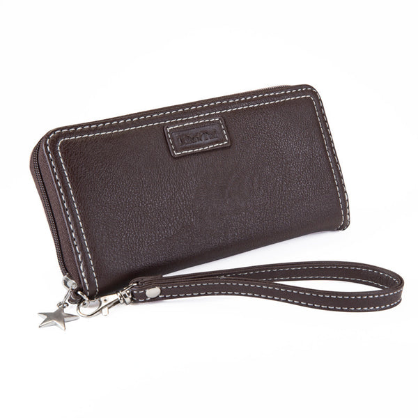 Wristlet Purse Chocolate