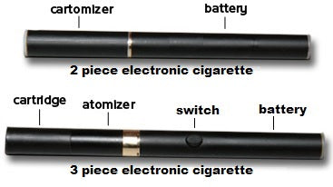 2 piece and 3 piece electronic cigarette