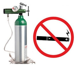 Oxygen Therapy and Electronic Cigarette Warning