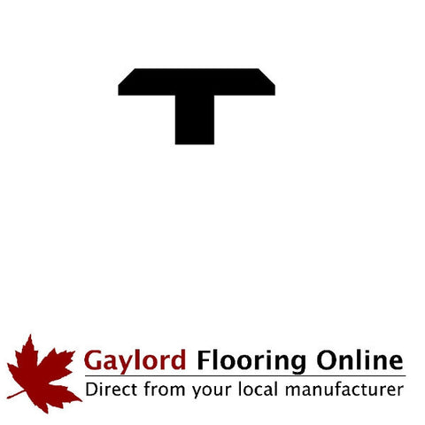 "1 3/8"" Hickory T-Mold (48"" Lengths)"