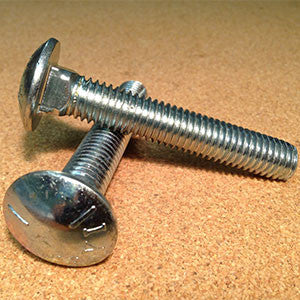 1/2''-13 Carriage Bolt - Grade 2 - Zinc Plated
