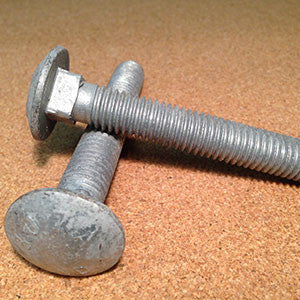 "3/8""-16 Carriage Bolt HDG"