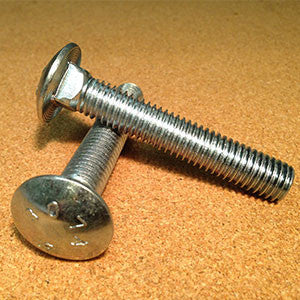 1/4''-20 Carriage Bolt - Grade 2 - Zinc Plated