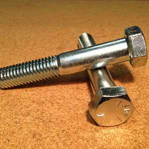 1/4''-20 Grade 5 Hex Bolt - Zinc - Coarse Thread