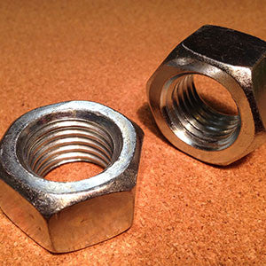 1 1/8-14 Grade 2 Finished Hex Nut Zinc