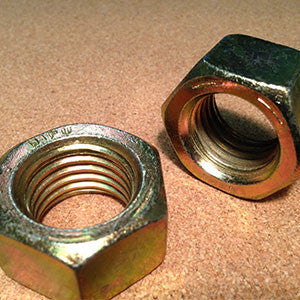9/16-18 Grade 8 Finished Hex Nut Yellow Zinc