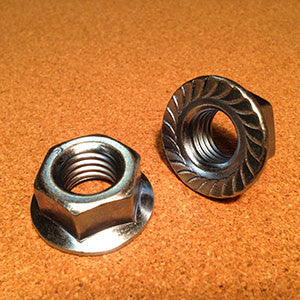 3/8-24 Serrated Flange Hex Nut Zinc