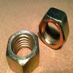1-8 Grade 8 Finished Hex Nut Yellow Zinc