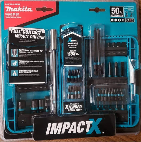 Makita 50pc Impact Bit Set