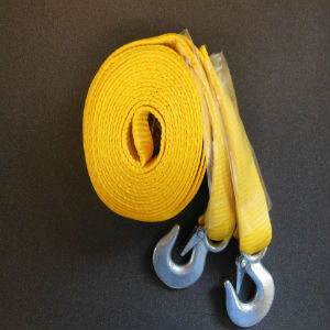 Heavy Duty 2'' x 20 Ft. 10,000 LB. Tow Strap w/ Safety Latch Hooks