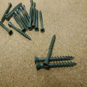Square Drive Trim Head Exterior Coated Screws
