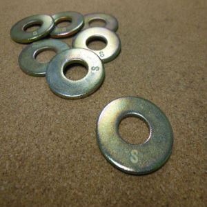 Grade 8 USS Flat Washer - Yellow Zinc