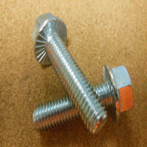 "3/8""-16 Grade 5 Serrated Hex Flange Bolt"