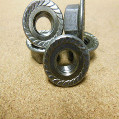 10mm 1.5 Serrated Flange Hex Nut