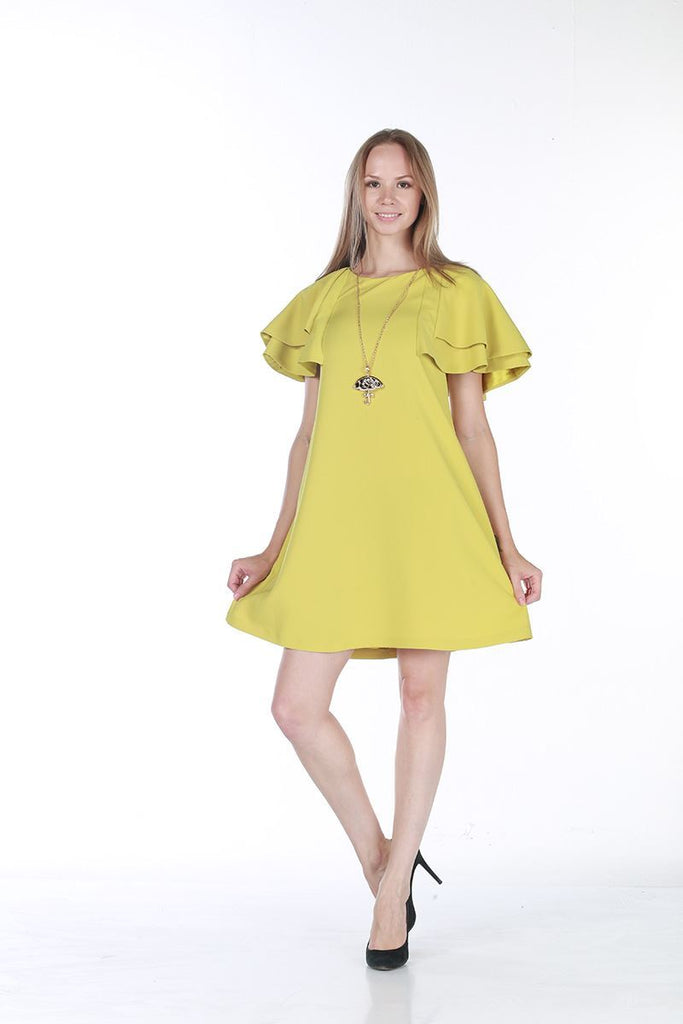 MioMio BUTTERFLY DRESS - Lemon