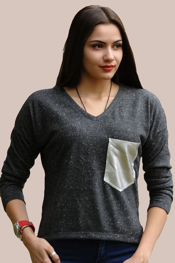 Vavin SPACE DYE BLOUSE - Dark grey