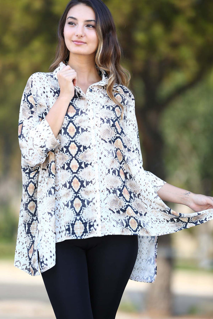 Snake Patterned Blouse